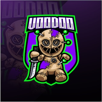 Logo maskotki e-sport voodoo