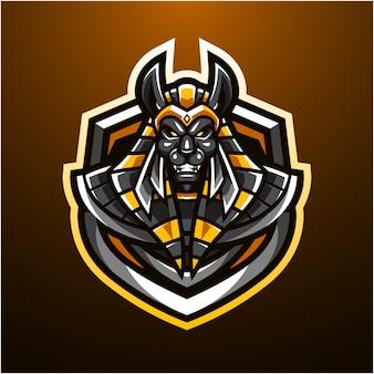 Logo maskotki e-sportowej anubis