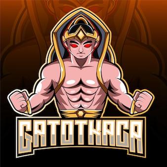 Logo maskotki e-sportowej gatotkaca