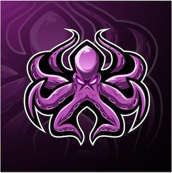 Logo maskotki e-sportowej kraken
