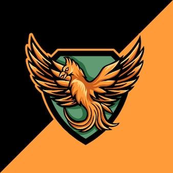 Logo maskotki e-sportowej phoenix