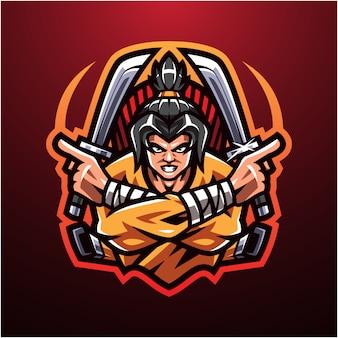 Logo maskotki e-sportowej shinobi