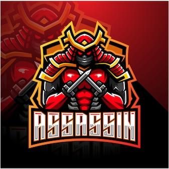 Logo maskotki esport assassin