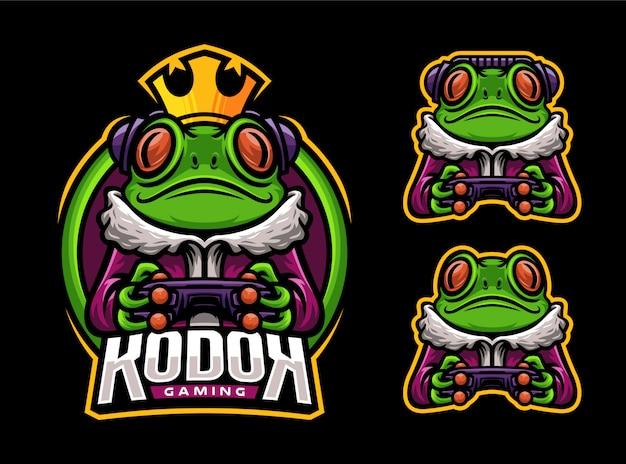 Logo maskotki esport frog gaming