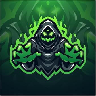 Logo maskotki esport ghost