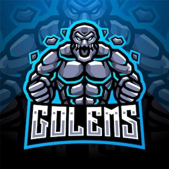 Logo maskotki esport golems