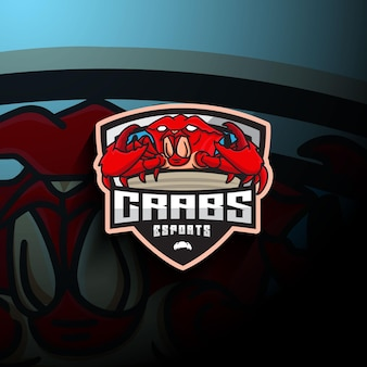 Logo maskotki esport kraba