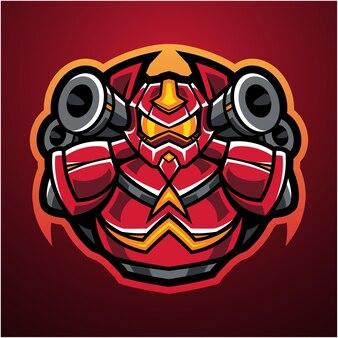 Logo maskotki esport robota