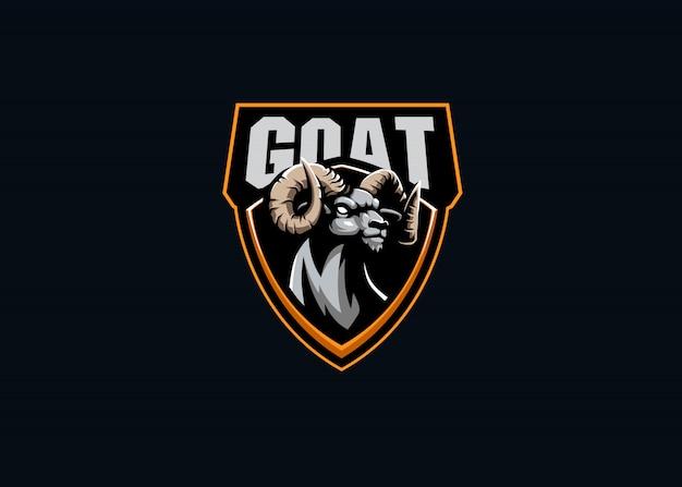 Logo maskotki esport siły kozy