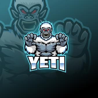 Logo maskotki esport yeti