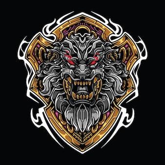 Logo maskotki głowa lwa