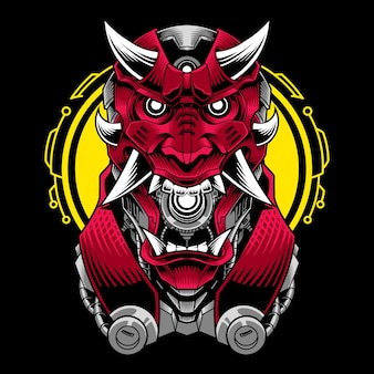 Logo maskotki głowy diabła