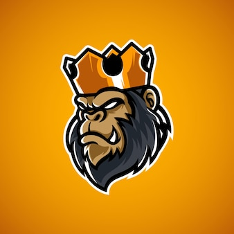 Logo maskotki głowy king kong