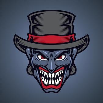 Logo maskotki głowy klauna