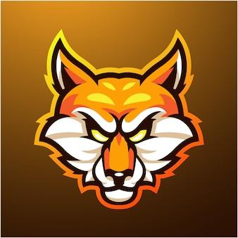 Logo maskotki głowy lisów