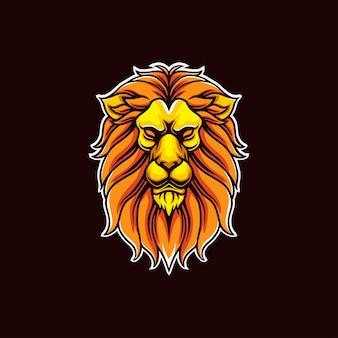 Logo maskotki głowy lwa
