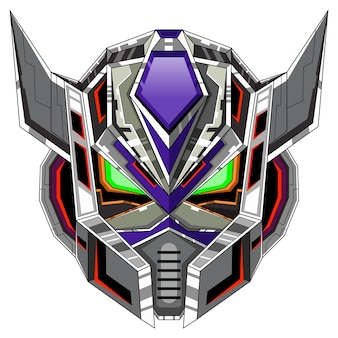 Logo maskotki głowy robota