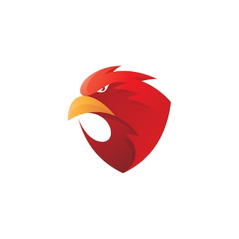 Logo maskotki głowy sokoła