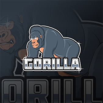 Logo maskotki goryla króla e sport