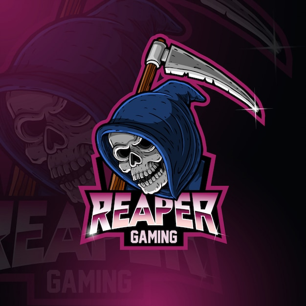 Logo maskotki grim reaper