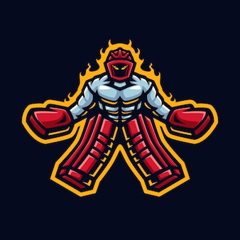 Logo maskotki hokejowej dla drużyny i społeczności hokejowej