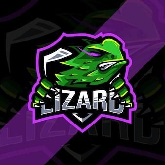 Logo maskotki jaszczurki