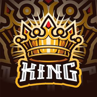 Logo maskotki korony esport