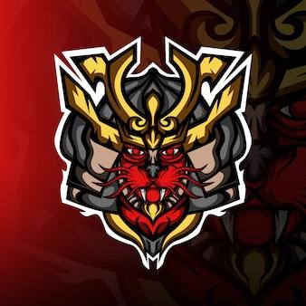 Logo maskotki kota ronina