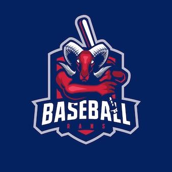 Logo maskotki koziej baseballu