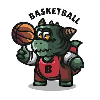 Logo maskotki krokodyla dla amerykańskiej drużyny sportowej