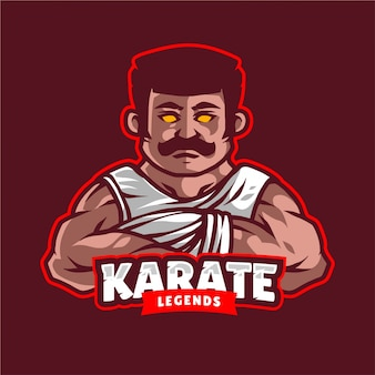 Logo maskotki legendy karate