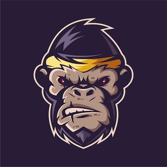 Logo maskotki małpy