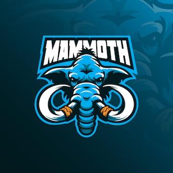 Logo maskotki mamuta