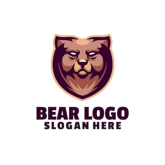 Logo maskotki niedźwiedzia