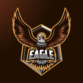 Logo maskotki orła do e-sportu i sportu