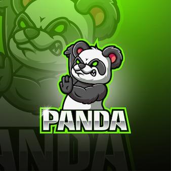 Logo maskotki panda esport