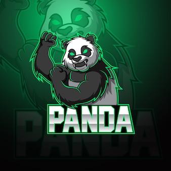 Logo maskotki panda