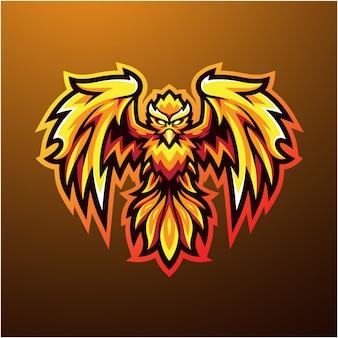Logo maskotki phoenix