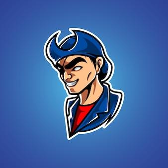 Logo Maskotki Pirates E Sport Premium Wektorów