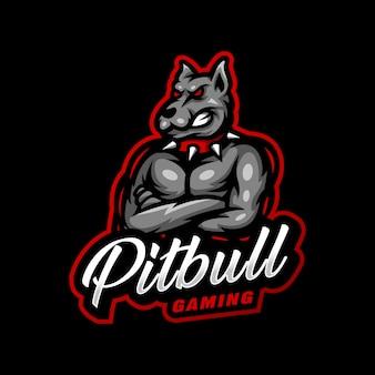 Logo maskotki pitbull do gier e-sportowych