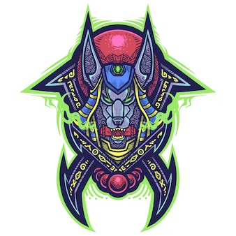 Logo maskotki plemiennych anubis