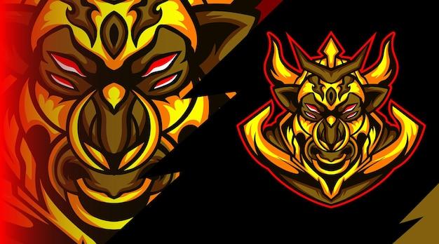 Logo maskotki potworów byson