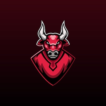 Logo maskotki red bull do gier zespołowych