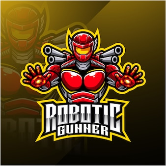 Logo maskotki robota-strzelca