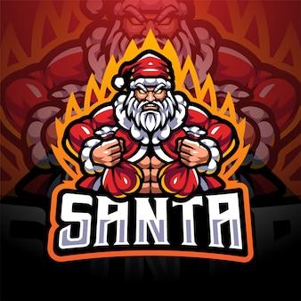 Logo maskotki santa esport