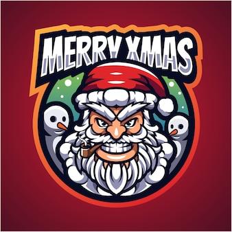 Logo maskotki santa