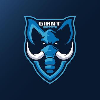 Logo maskotki słonia