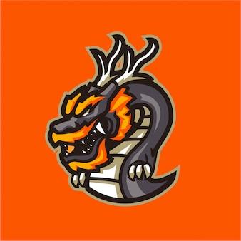 Logo maskotki smoka chińskiego