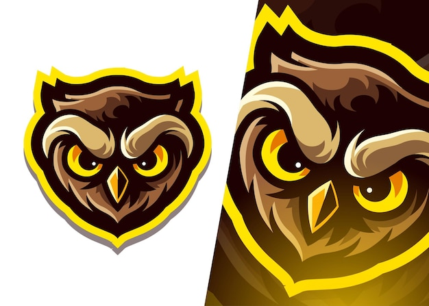 Logo maskotki sowy