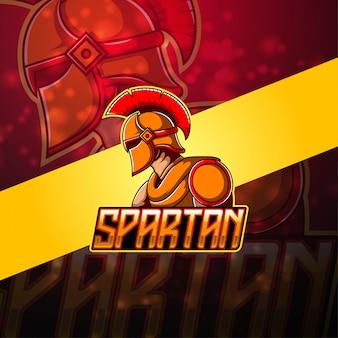 Logo maskotki spartan esport